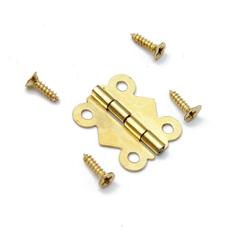 10pcs Iron Bronze Gold Silver Mini Butterfly Door Hinges Cabinet Drawer Jewellery Box Hinge For Furniture Hardware(China (Mainland))