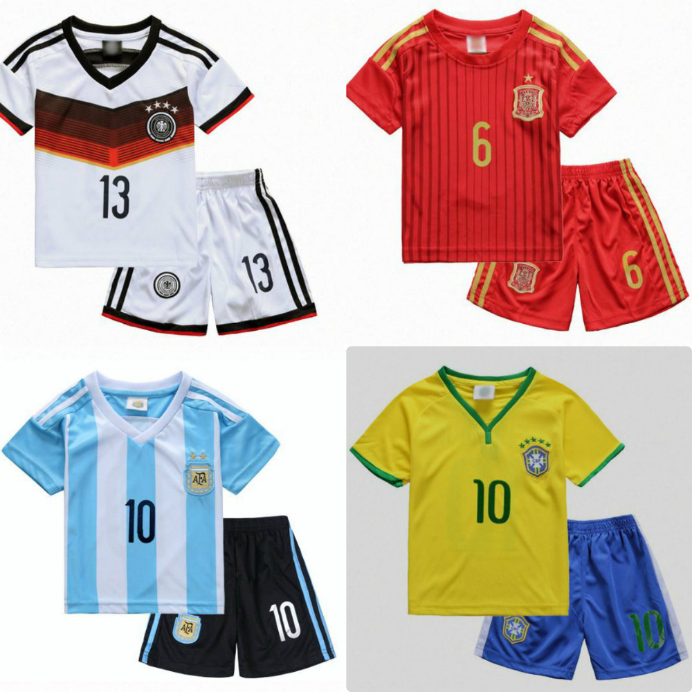 2016 breathable Survetement football baby sets summer children's clothing boys sports suit teen clothing soccer jerseys shirts(China (Mainland))