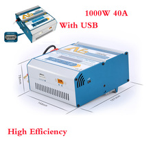 High efficiency A6 dc battery balance charger 1000w 40a fast charger with usb port 5v/1a for rc helicopter battery uav battery