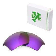 MRY POLARIZED Replacement Lenses for Oakley Half Jacket 2.0 XL Sunglasses Plasma Purple
