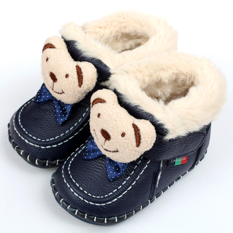Animal Super Warm Winter Baby Boots Baby Boots Soft Leather Baby Shoes Moccasins Infant Kids Girls Boys First Walkers Shoes(China (Mainland))
