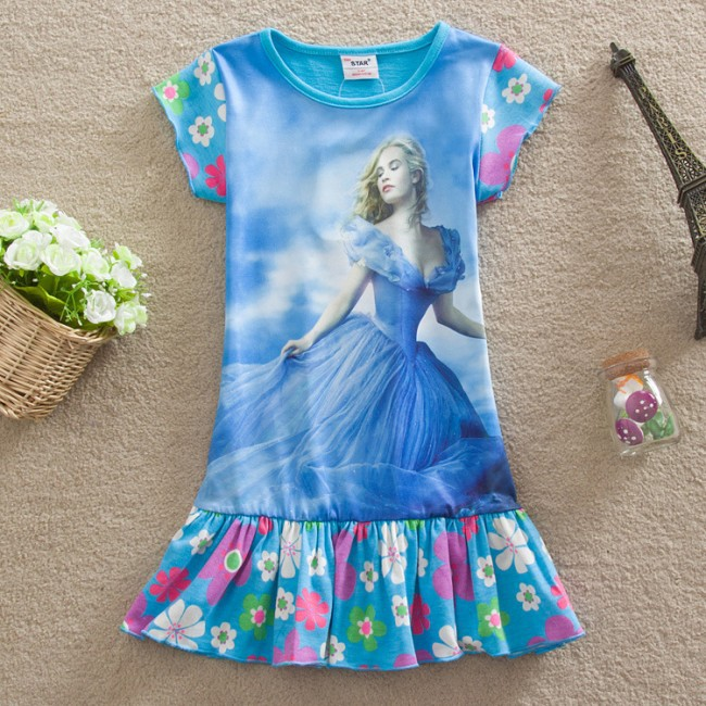 EMS/ DHL free shipping 2015 New  Princess Dress Cind**ella Children Dress in Europe and the United States <br><br>Aliexpress