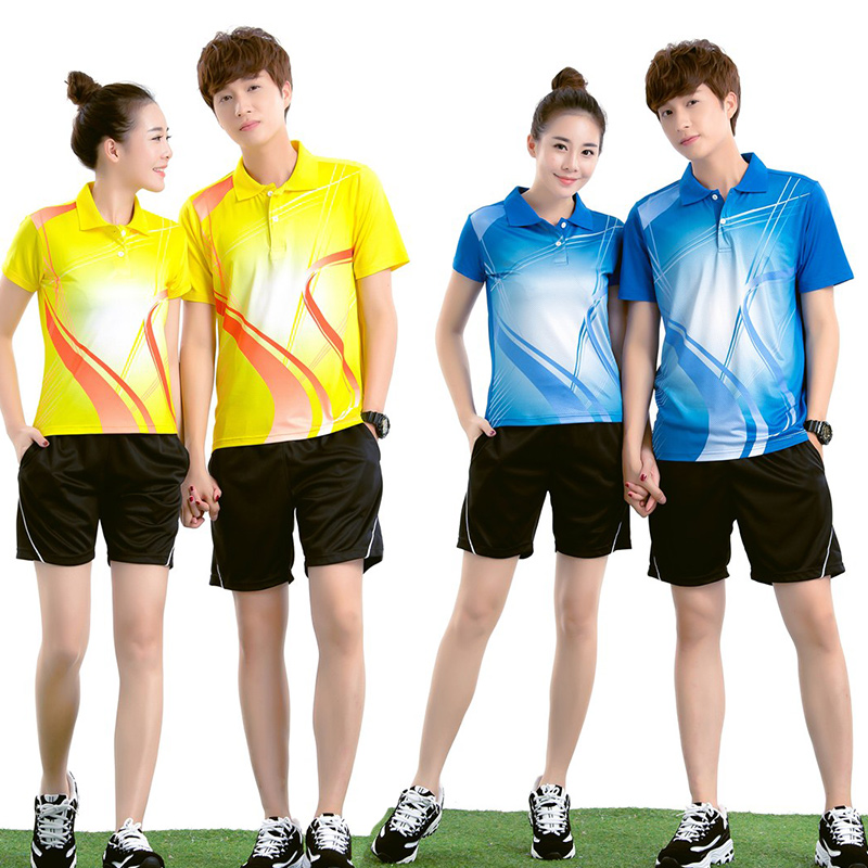 Blank Badminton Jerseys Male/Female , sports clothes ,Table Tennis Uniforms , embroider for your own Team Personalise logos(China (Mainland))