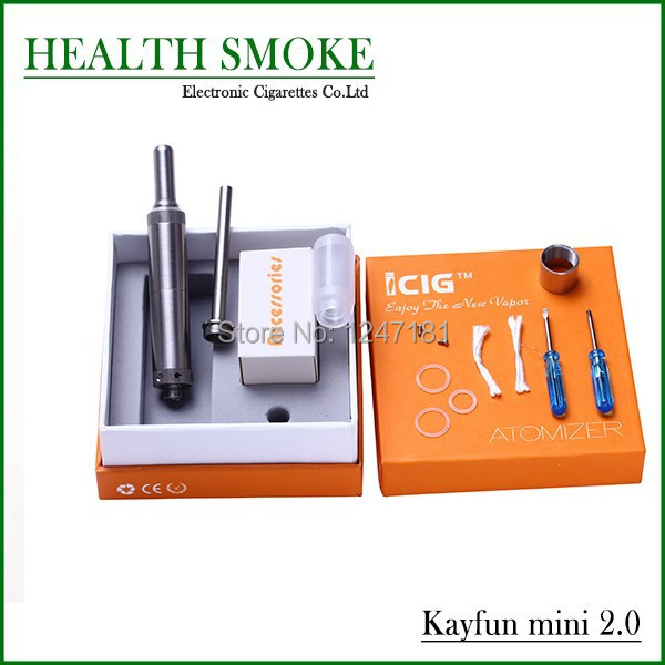 5pcs New Rebuild Kayfun mini 2.0 kit for E Cigarette Vapor Rebuild Kayfun Atomizer changeable coil with 510 Thread free shipping<br>