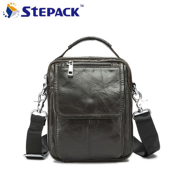 2016 100% Genuine Leather Men Bag Vintage Cowhide Leather Men Hangbag Two Size Business Bag Shoulder Bag Messenger Bag WMB0107(China (Mainland))