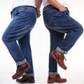 2017 New Plus Size 46 Mens Jeans Trousers Straight Casual Men Loose Fit Denm Jeans Pants