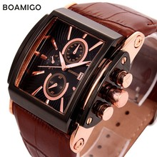 Relojes Hombre 2016 Watches men Luxury Brand Fashion Military Sports Gold Analog Quartz Watch Date Genuine Leather Strap(China (Mainland))