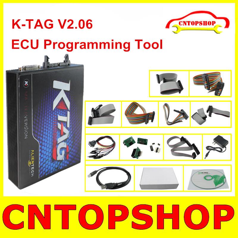 Latest Version V2.06 KTAG Programmer K-TAG Hardware Version V5.001 ECU Chip Tuning Tool Support Multi-language KTAG Can Do Truck(China (Mainland))