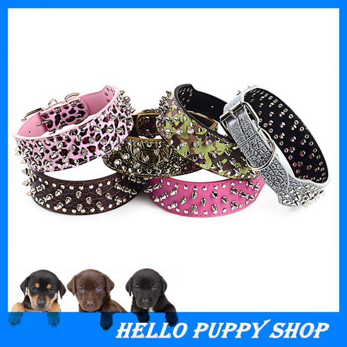 Free Shipping Spiked Dog Collars For Pitbulls(China (Mainland))