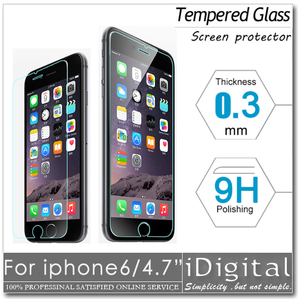 """Anti Shatter Protector Tempered For iphone 6 4.7""""phone screen protection glass film with free gift Fashion transparent Back Case(China (Mainland))"""
