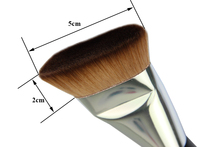 2015 New Single Professional Flat Contour Foundation Blush Brush Face Makeup Big Powder Brushes Synthetic Hair