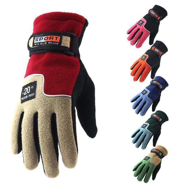 Мужчины Женщины Полный Finger Теплые Флисовые Перчатки Открытый Ветрозащитный Тепловые Горные Лыжи Велоспорт Катание На Лыжах Пешие Прогулки Перчатки