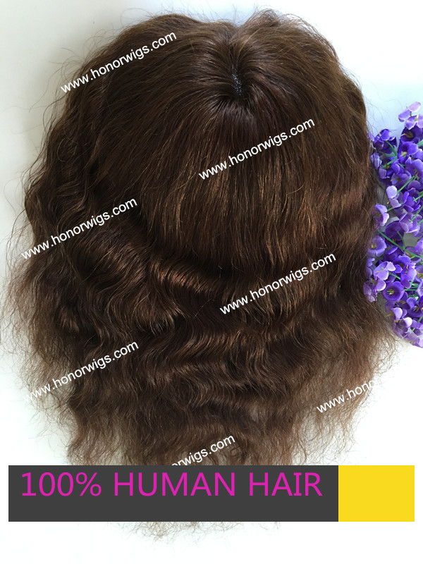 deep wave afrco curl women's toupee dark brown color 14inches length base size 6x8inch fast delivery in stock swiss lace base