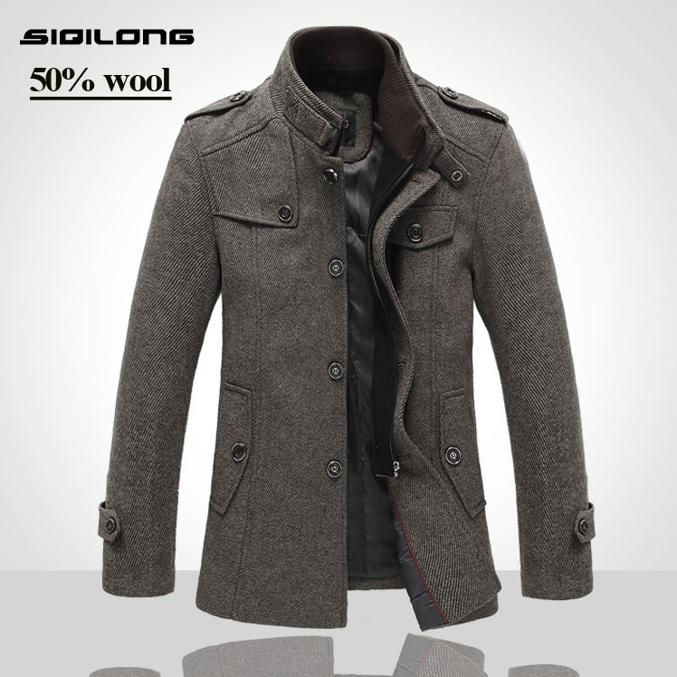 Mens Wool Military Jacket | Outdoor Jacket