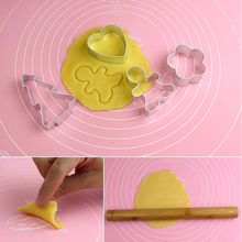 50 * 40cm silicone mat chopping board Nonstick Silicone Dough Pastry Bake Sheet Roll Cut Mat with Measurements insulation pad(China (Mainland))