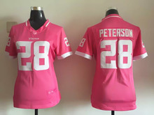 Women ladies all stitched PINK love Minnesota Vikings #5 Teddy Bridgewater 28 Adrian Peterson,camouflage(China (Mainland))