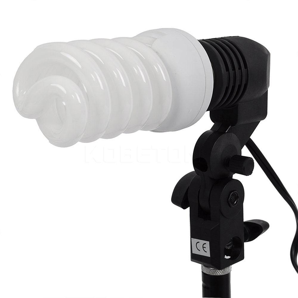2016 Black E27 Single Head Photo Lighting Bulb Holder Socket Flash Umbrella Bracket Photography Studio Light Fitting EU/US Plug(China (Mainland))