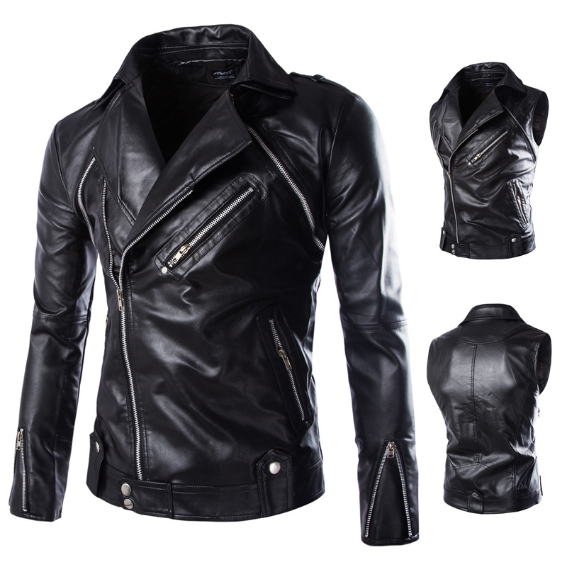 2016 autumn and winter fashion Motorcycle jacket high-end new men Sleeves Detachable leather specifically for mens leatherОдежда и ак�е��уары<br><br><br>Aliexpress