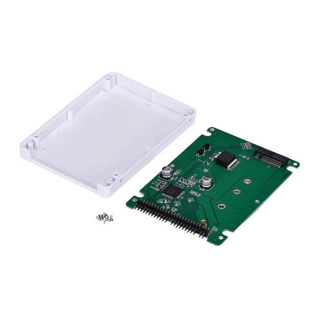 """M.2 Hot NGFF (SATA) SSD to 2.5"""" IDE44pin adapter with plastic 9mm case M.2 NGFF SSD to 2.5 PATA IDE adapter card For laptops(China (Mainland))"""