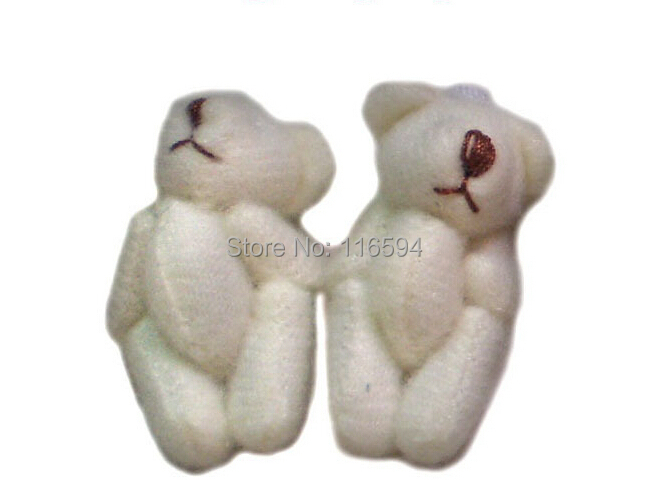 small wholesale 40pcs/lot 3cm=1.2inch plush stuffed jointed mini teddy bear cartoon bouquet packaging material(China (Mainland))