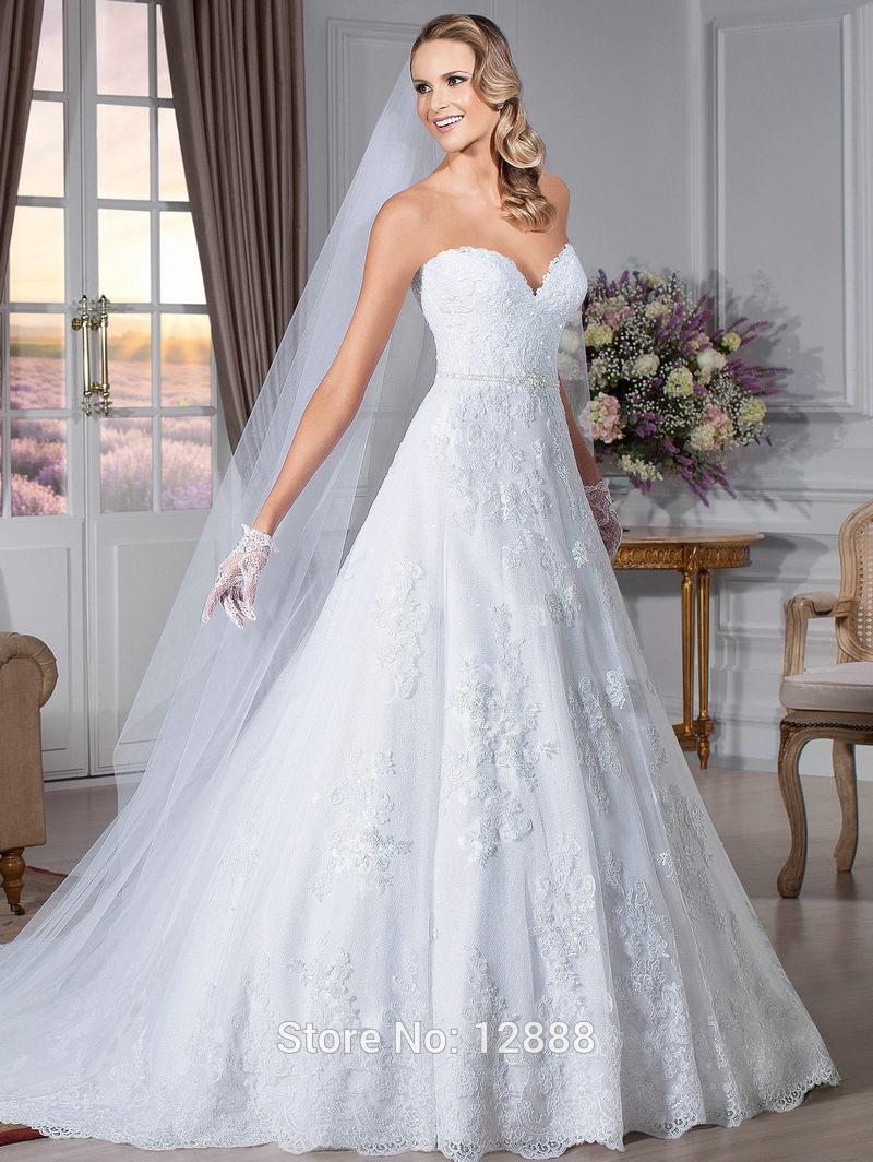 Vestidos De Noiva Sereia Sweetheart White Organza Vintage