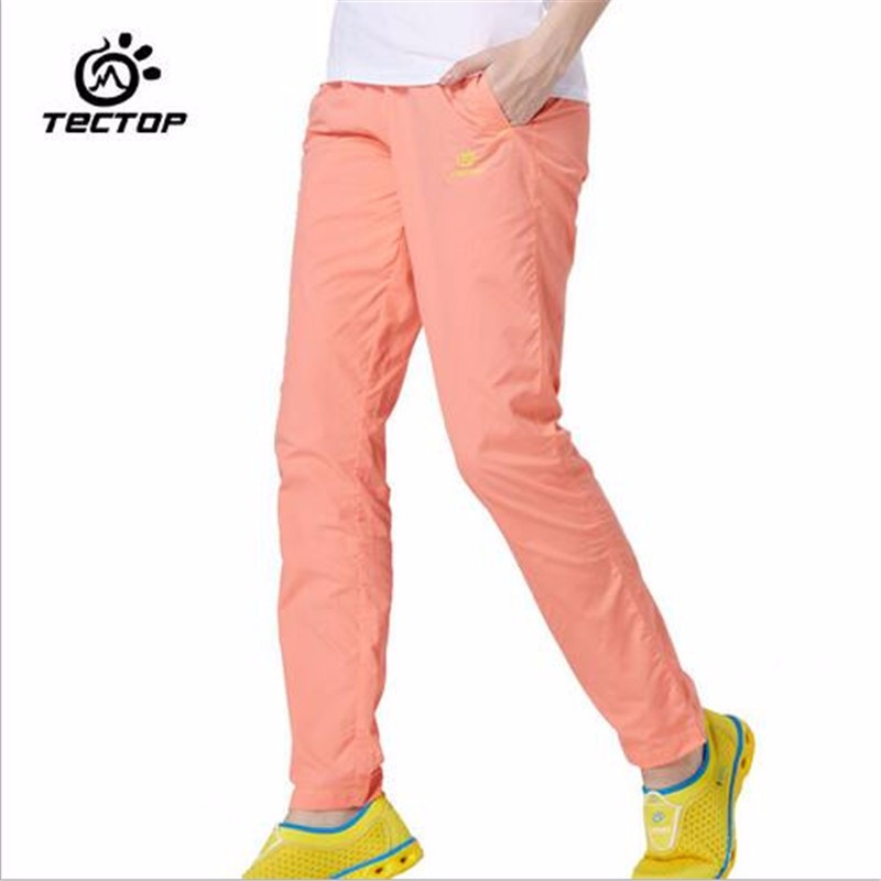 TECTOP Sport Outdoor Hiking Quick Dry Pants Men Women Camping Climbing Ultra-thin Breathable Casual Trousers Colorful<br><br>Aliexpress