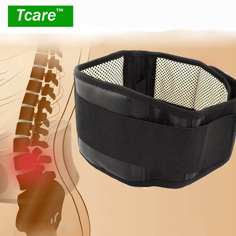 * Tcare Adjustable Waist Tourmaline Self heating Magnetic Therapy Back Waist Support Belt Lumbar Brace Massage Band Health Care(China (Mainland))