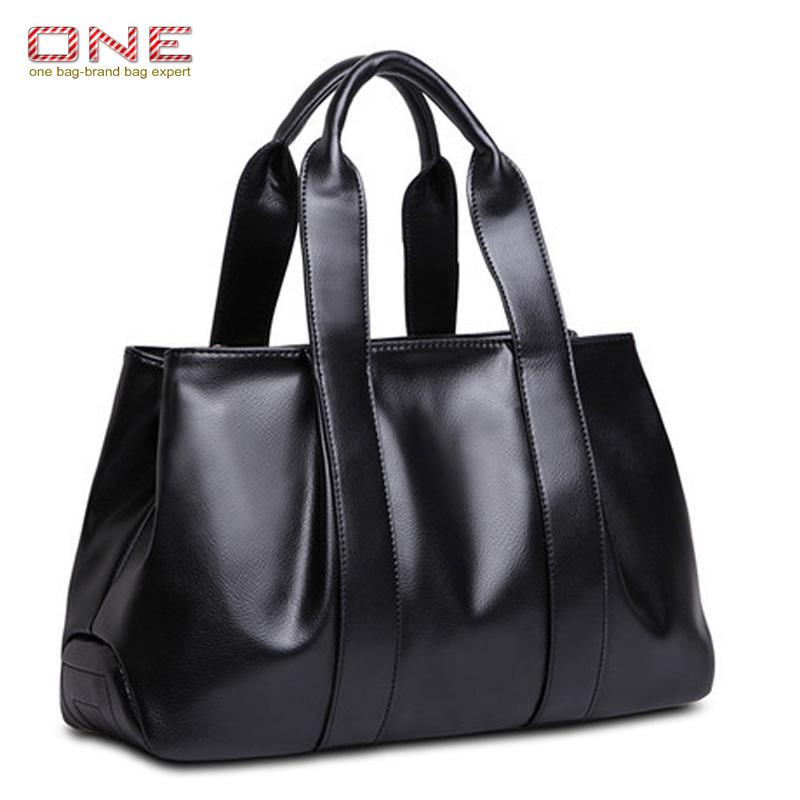 Genuine cowhide leather handbag 2016 vintage simple bags for women large shoulder bags messenger bag PT676<br><br>Aliexpress