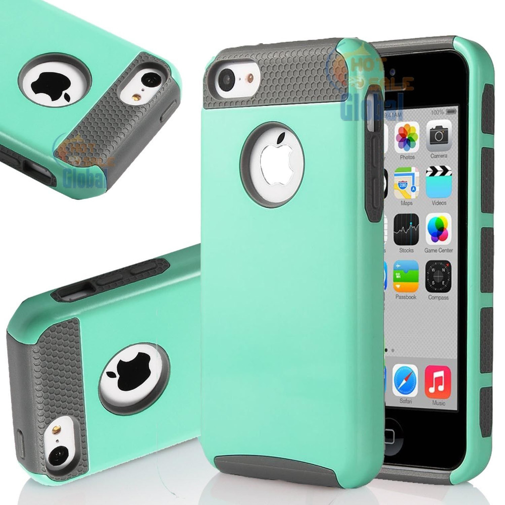 PC Shockproof Hybrid Rubber Hard Protective Cover Case Skin For Apple iPhone 5C(China (Mainland))