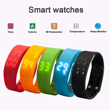 Free Shipping W2 Smart Wrist Watch Bracelet Pedometer Step Walk Calorie Counter Sport Tracker 86990-86995