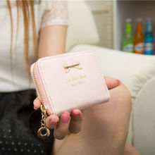 2015 Summer Style Colorful Women Fashional Mini Faux Leather Purse Zip Around Wallet Card Holders Handbag