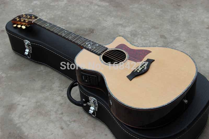 acoustic guitar,solid wood top,with EQ,916 CE,cutaway guitar NANA-AT-001(China (Mainland))