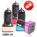 3 1A Universal Car Chargers Auto Dual USB Automobiles Electronics Accessorie Supplies Gear Items Stuff Products