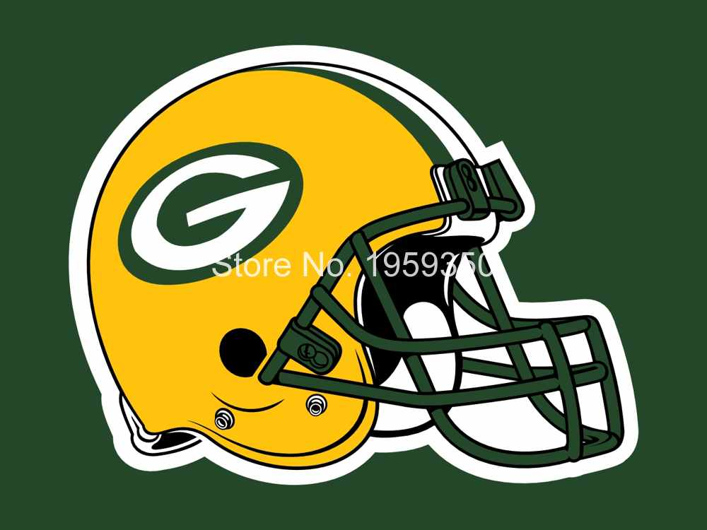 Green Bay Packers Helmet Flag 3ft x 5ft Polyester Team Banner Flying flag white sleeve with 2 Metal Grommets 40146(China (Mainland))