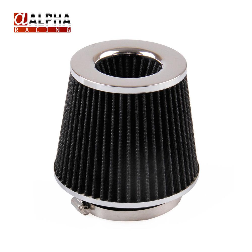 Альфа гонки - высокое качество новый 4IN поток воздушный фильтр для автомобиля 10.1 и 155 мм высота черный нержавеющая сталь