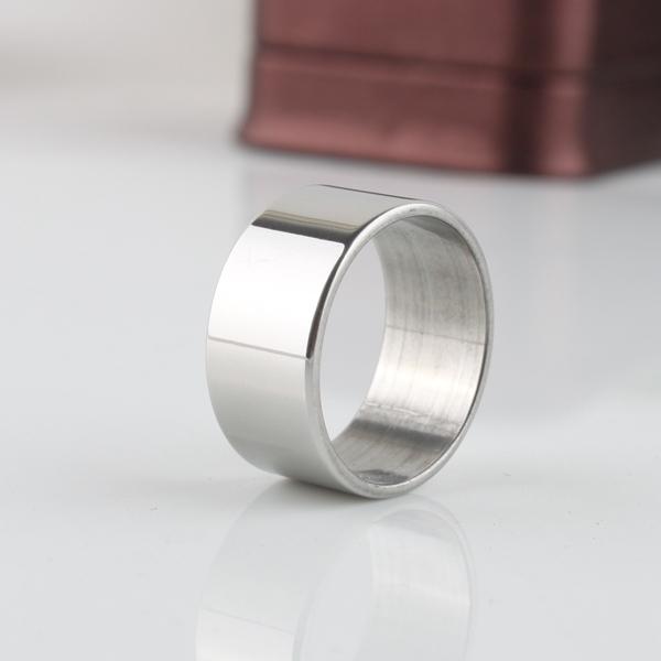 Облегченная версия широкие кольца нержавеющей стали 316L мужчины женщины ювелирные ...