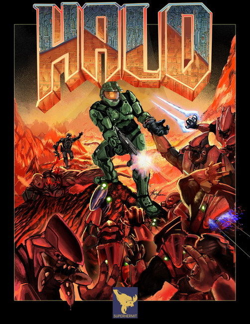 "012 Doom - First Person Shooter Video Game 14""x18"" Poster OP003(China (Mainland))"
