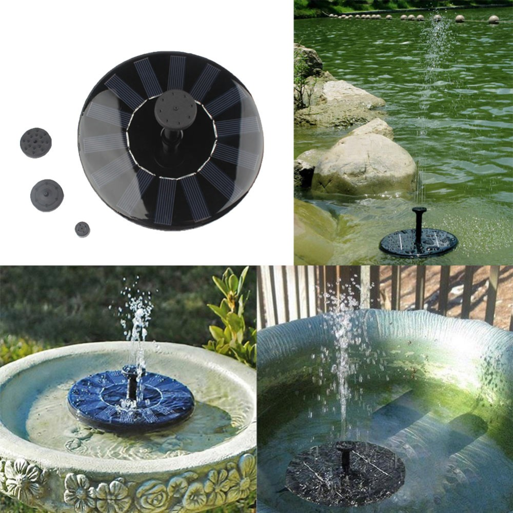New Solar Power Fountain Pool Water Pump Garden Plants Watering Kit Outdoor  Water Fountain Pumps Home