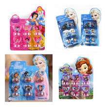 Toy stamp 6/4 pcs/set Snow White Elsa Anna Sofia DIY Cartoon stamp the best gift for kids Toys(China (Mainland))