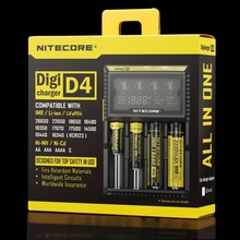 2016 Hot Selling Original Nitecore D4 Digicharger LCD Display Battery Charger Intelligent 2.0 Fit LI-ion 18650 14500 16340 26650(China (Mainland))