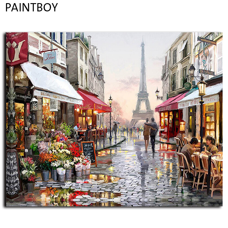 Oil Painting Frameless Picture Paintng By Numbers Handpainted Canvas Painting Home Decoration For Living Room GX4547 40*50cm(China (Mainland))
