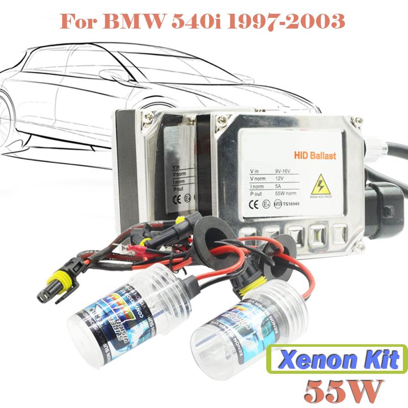 55W HID Xenon Kit Ballast Bulb For 540i 1997-2003 Car Conversion Headlight 3000K 4300K 5000K 6000K 8000K 10000K 12000K 15000K(China (Mainland))