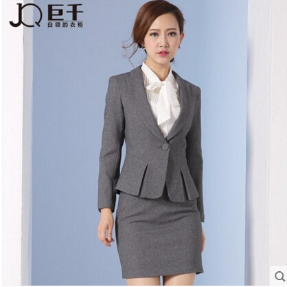 Korean 2016 office uniform designs women plus size women for Office uniform design 2016