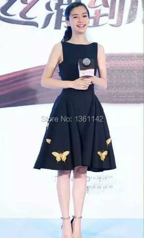 New Arrival Fashion Dresses 2016 Famous Brand Women Printed Butterfly Dress Free ShippingОдежда и ак�е��уары<br><br><br>Aliexpress