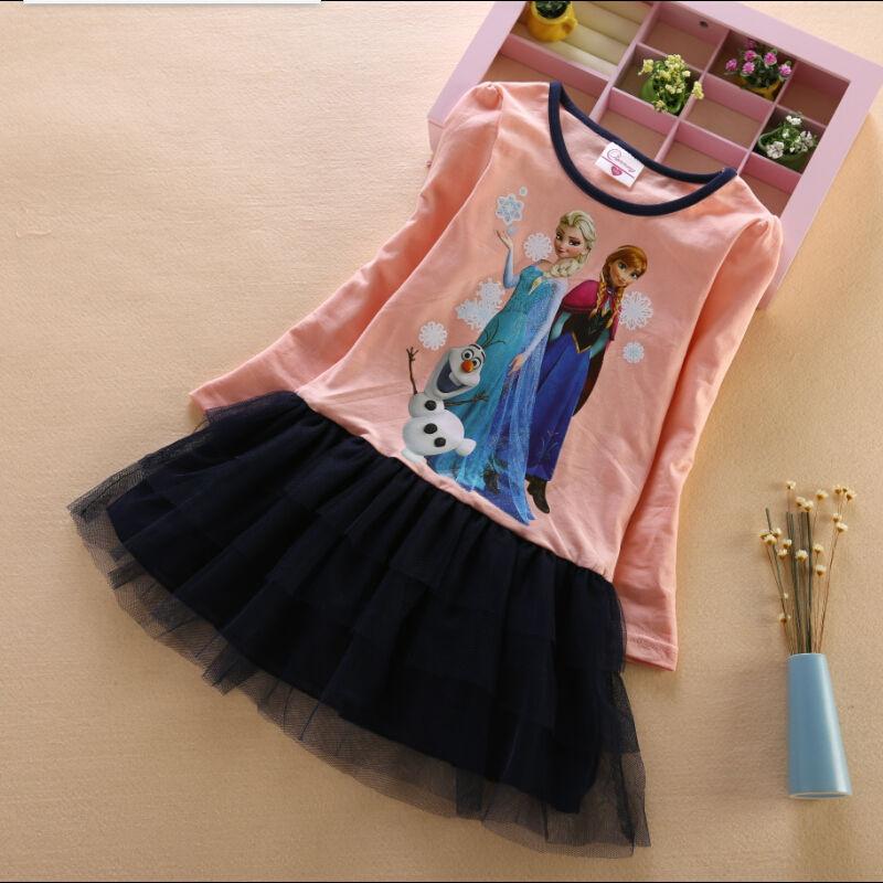 Гаджет  Kids clothes anna elsa baby girls dress fashion baby clothes girls dress princess and queen autumn and winter enfants robe None Детские товары