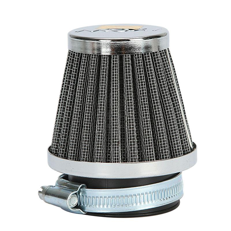 New Clamp-on Motorcycle Air Filter 48mm Connector Dual Layer Steel Mesh Design For Honda Yamaha Suzuki Kawasaki(China (Mainland))