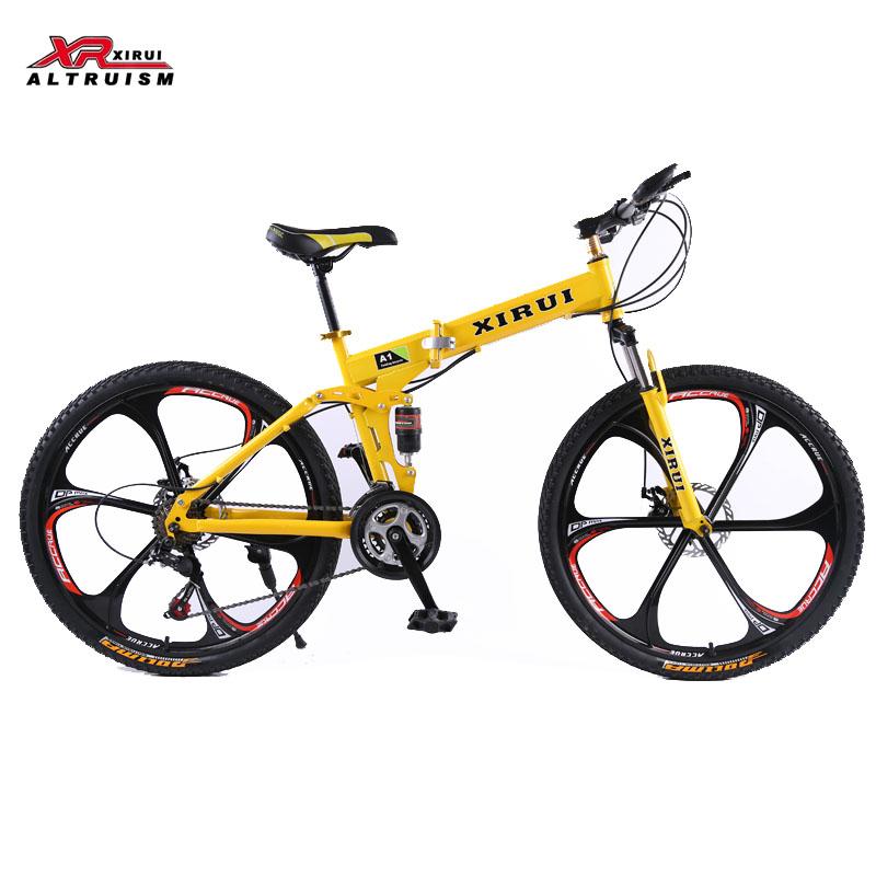 Folding bicycle bicicleta 26 inch 21 speed xirui aluminum alloy mountain bicycle fixed gear mountainbike fat bike unisex biycles(China (Mainland))