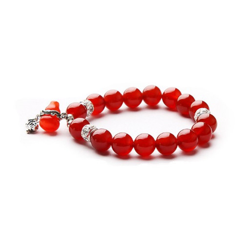 Natural red agate beads bracelets evil Lucky Crystal Jewelry for women and men(China (Mainland))