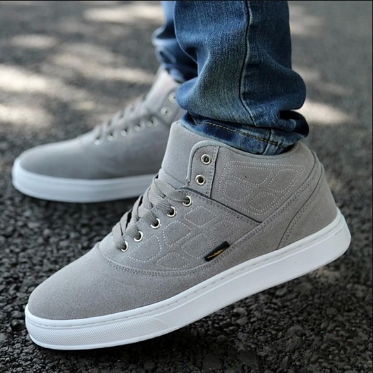 2014 Autumn Winter Men Sneakers with Fur Male warm Casual Shoes Size 39-44,Men's fashion shoes drop shipping,XMR067(China (Mainland))