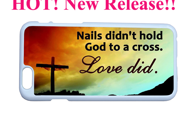 cross nail didn't hold god love bible christian quote sleeve case iphone 6 4.7 inches - Guangzhou Sofia phone accessory Co. Ltd store